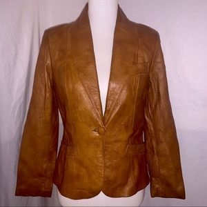 LOMELÍ OF CALIFORNIA Brown Leather Jacket - Size 7